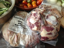I got some local pork and oxtails this week.